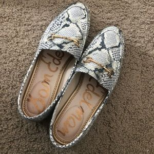 Sam Edelman Snakeskin Loafers